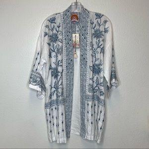 NWT Johnny Was Maike Linen Kimono Size S